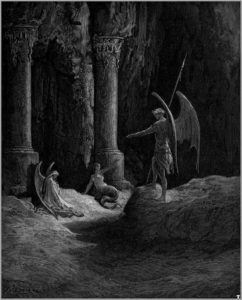 Doré: Satan speaks with Sin and Death