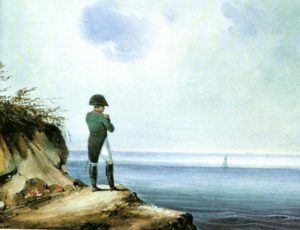 Napoleon on shores of Elba