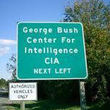 George Bush Center for Intelligence sign
